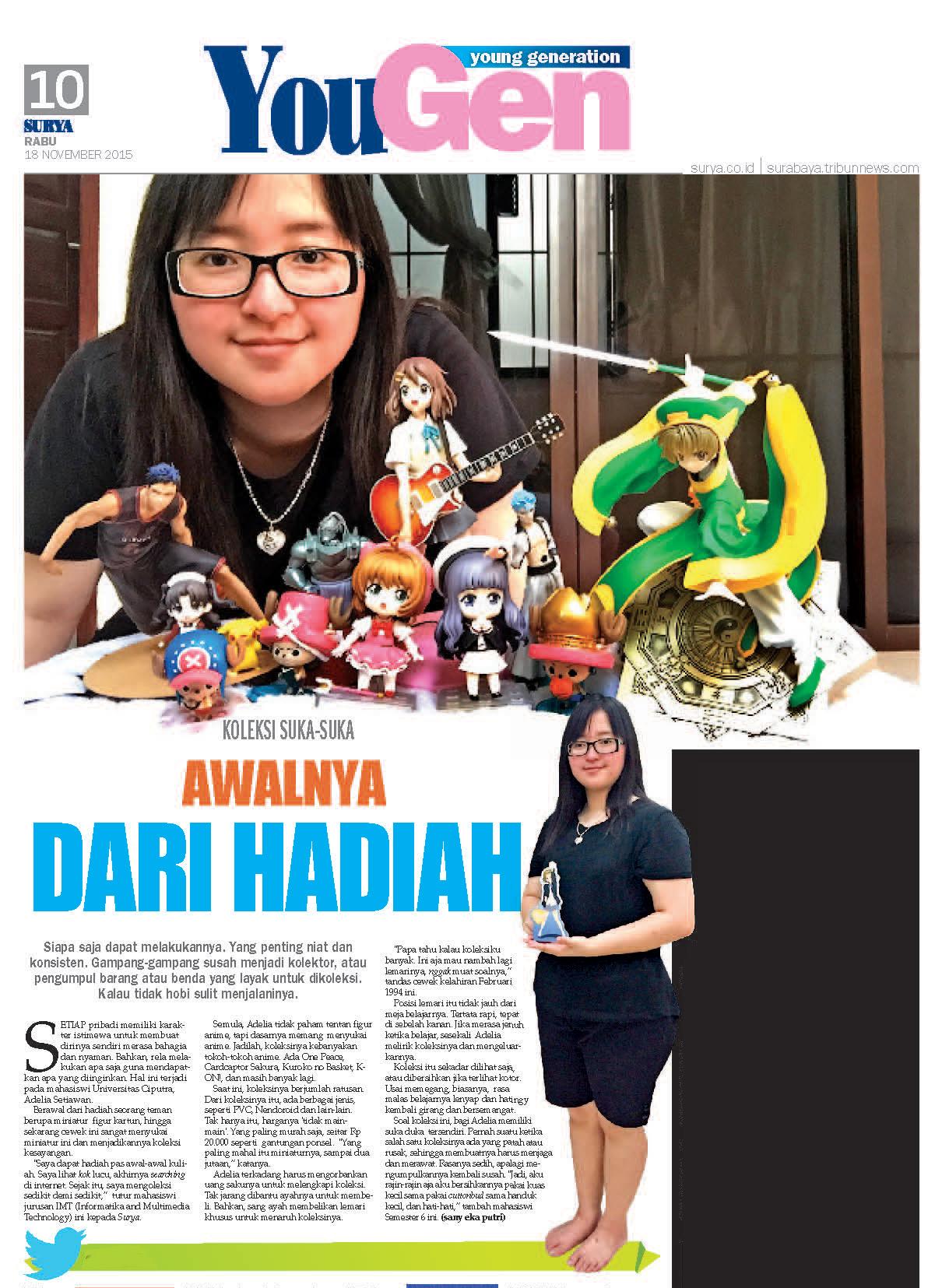 Action Figure Anime Koleksi Adelia