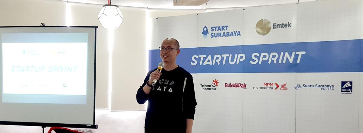 Yansen Kamto, CEO dan Founder Kibar memberikan kata sambutan sekaligus mengumumkan Top 10 Finalis