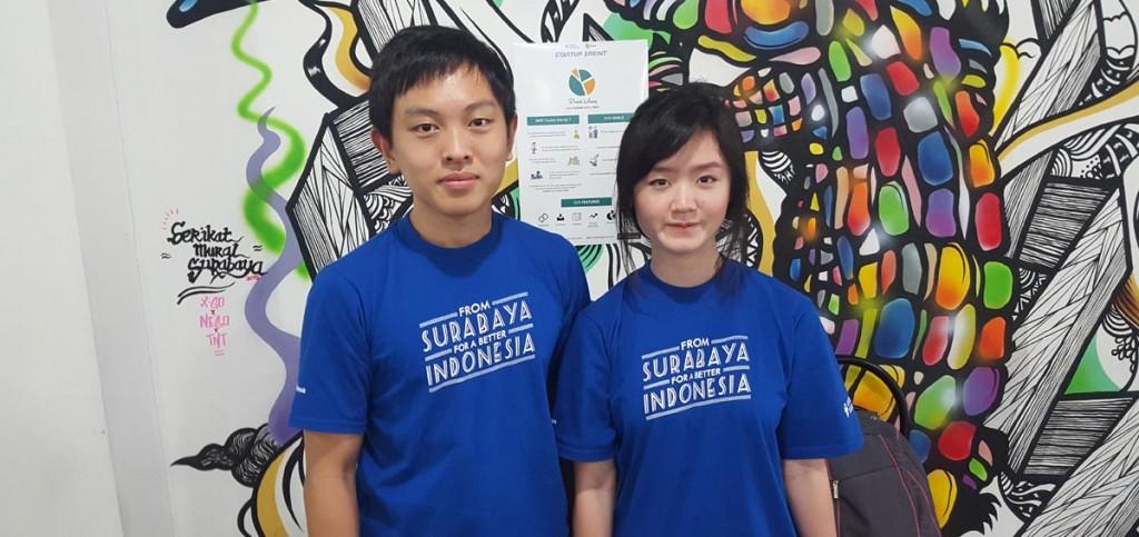 William Kurniawan, mahasiswa Teknik Informatika IMT UC bersama Dewi Aryani IHTB UC berhasil menjadi salah satu Top 10 Finalist Startup Sprint