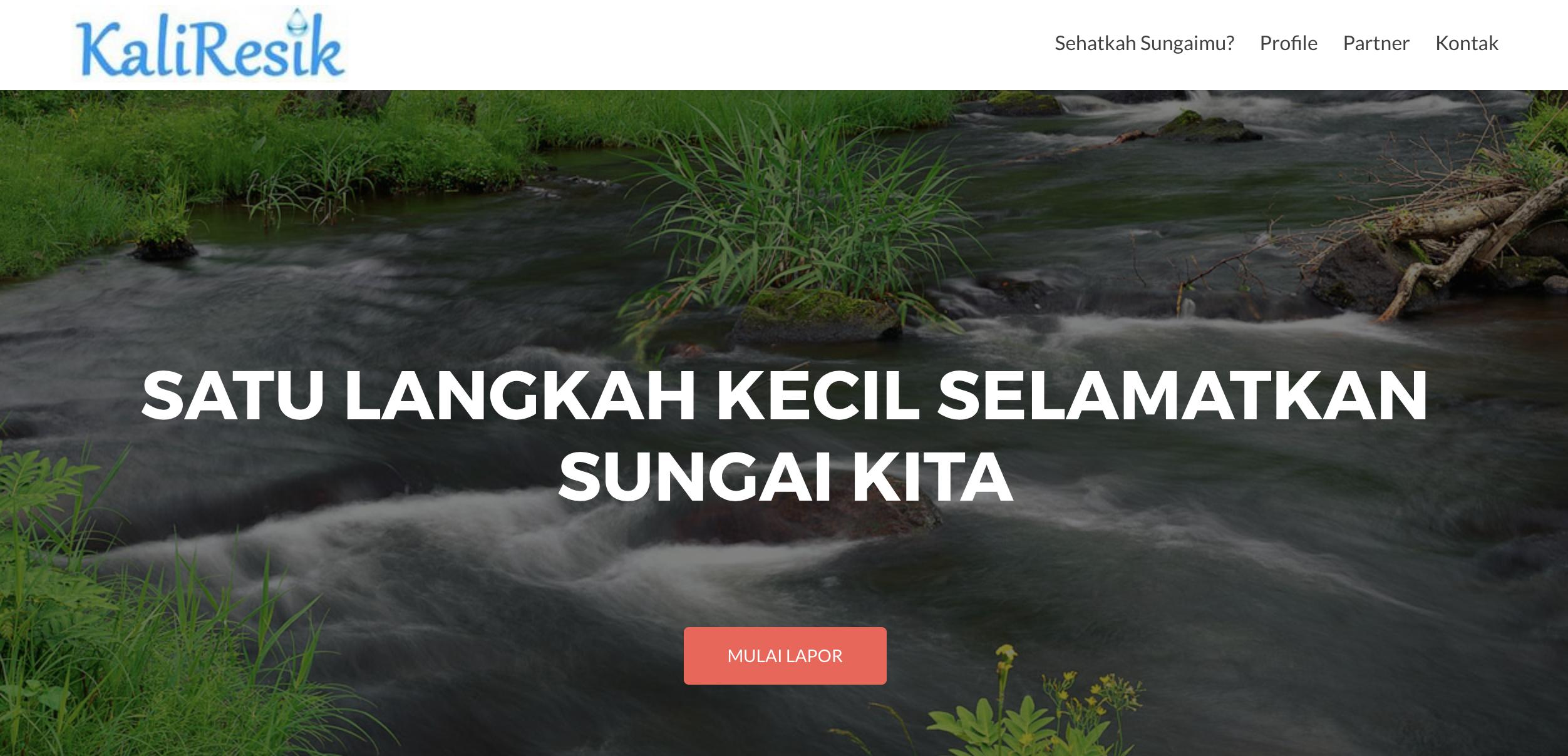 Laporkan Pencemaran Sungai melalui Kaliresik.org
