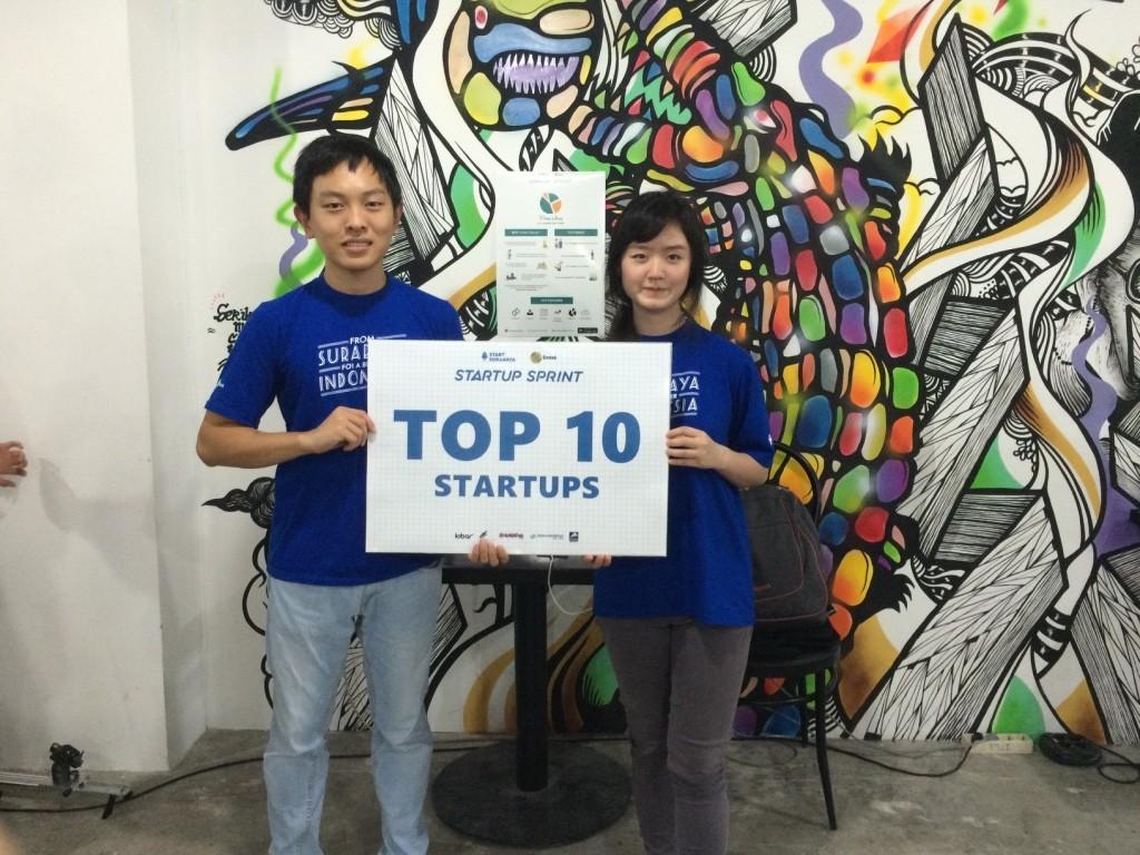 William Kurniawan, mahasiswa Teknik Informatika IMT UC bersama Dewi Aryani IHTB UC berhasil menjadi salah satu Top 10 Finalist Startup Sprint dan berhak meraih uang puluhan juta rupiah dan kesempatan untuk ke Silicon Valley!