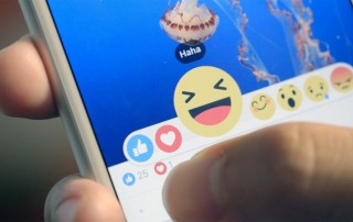 Facebook Reactions, photos courtesy of Mashable