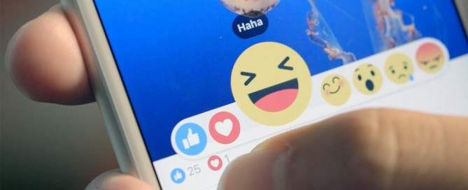 Facebook Reactions, photos courtesy of Mashable
