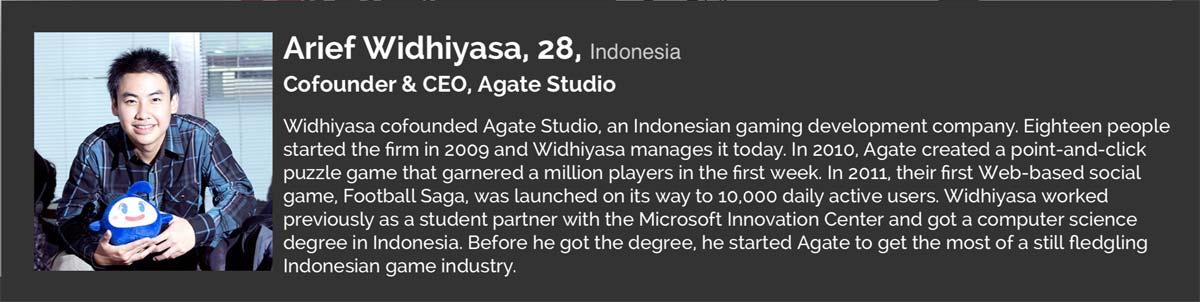 Arief Widhiyasa, CEO Agate Studio