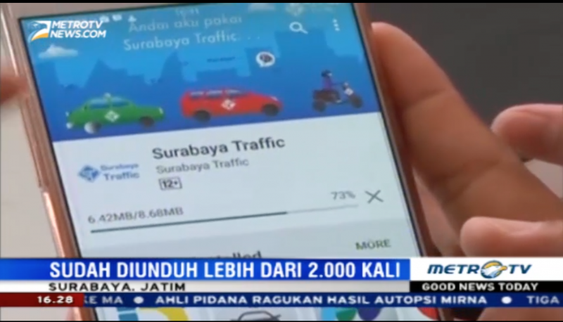 Surabaya Traffic di Metro TV News