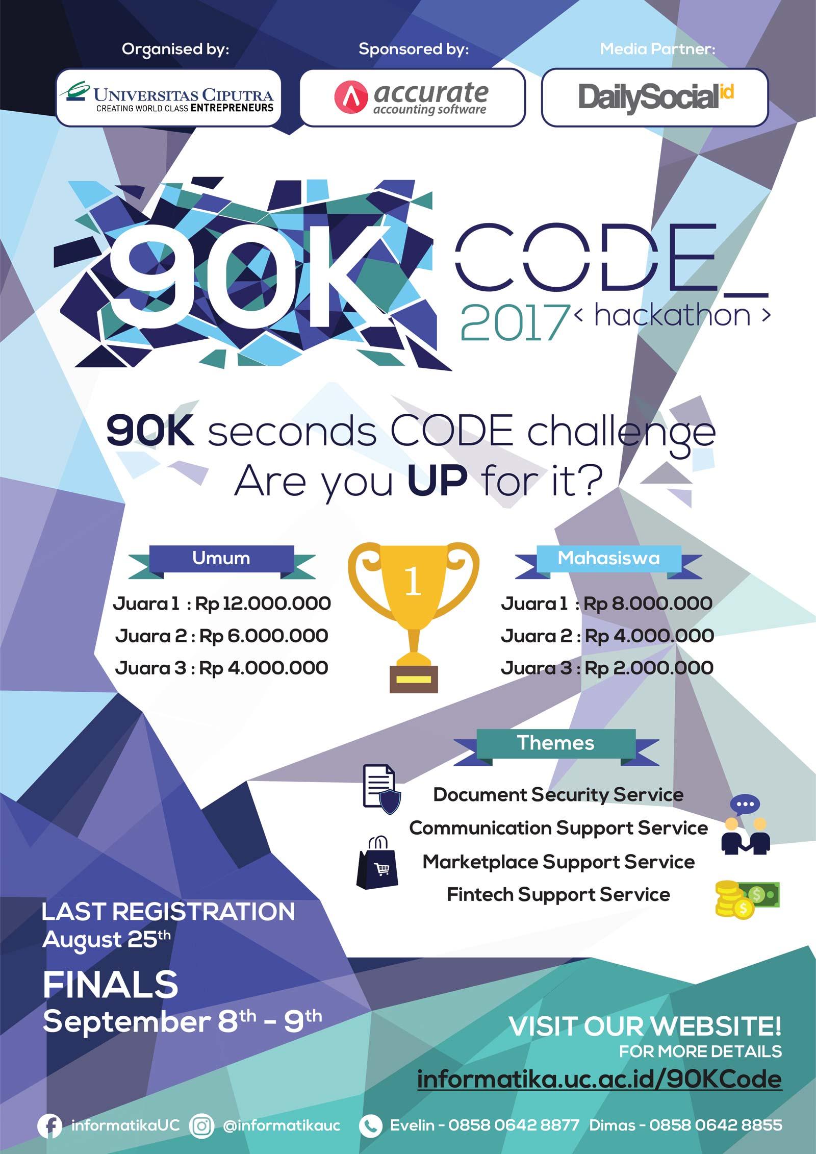 90K Code Informatika (IMT) dan Sistem Informasi Bisnis (ISB) Universitas Ciputra