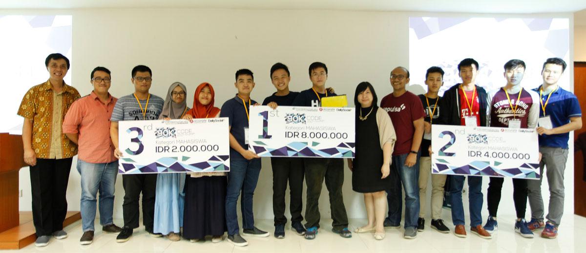 Para Pemenang 90K Code kategori Mahasiswa