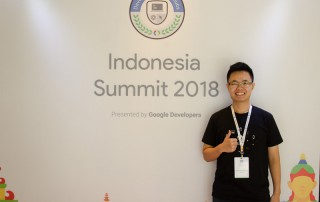 Hans Christian pada Google Develover Student Club Indonesia Summit 2018