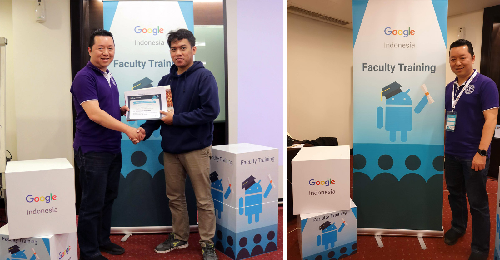 Stephanus Eko Wahyudi - dosen Informatika (IMT) UC yang berhasil meraih Beasiswa Google Faculty Training Batch 3 senilai belasan juta rupiah.