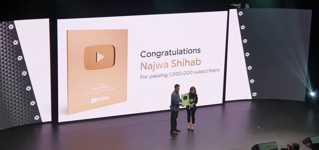 Youtube Gold Button untuk Najwa Shihab