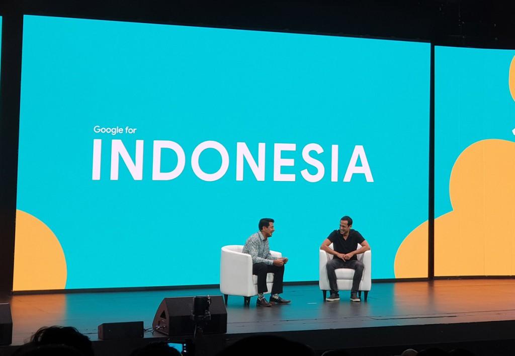 Nadiem Makarim di acara Google for Indonesia 2018