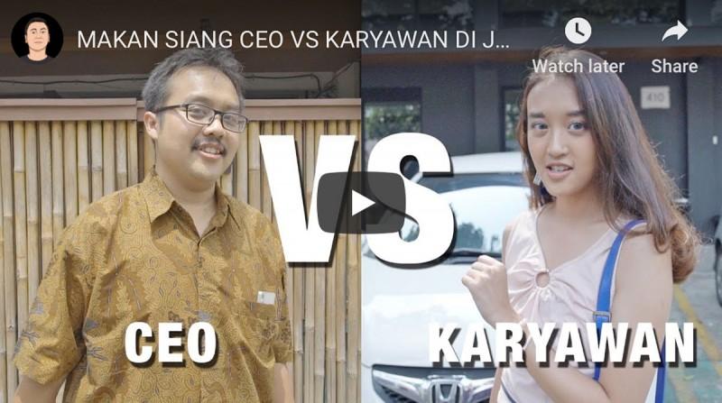 CEO vs Karyawan: source: Youtube Channel Raditya Dika