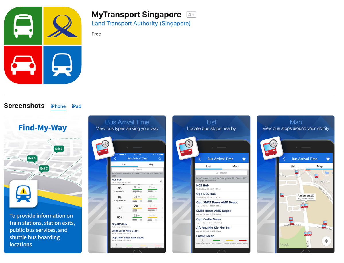 My Transport Singapore App
