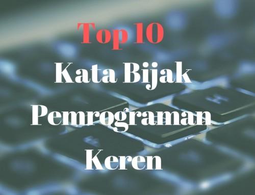 Top 10 Kata Bijak Pemrograman Keren