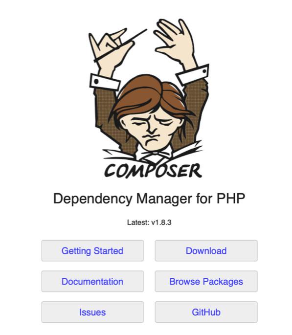 Composer Dependency Manager for PHP untuk memastikan kebutuhan server pengembangan web