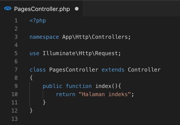Contoh Method index dalam Controller